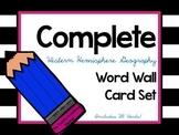 Western Hemisphere Geography Word Wall Cards