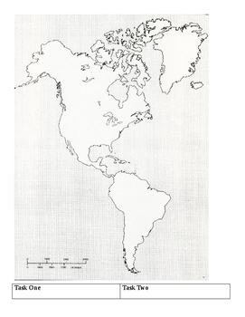image about Western Hemisphere Map Printable identified as Western Hemisphere Map Worksheets Coaching Supplies TpT