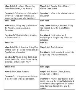 Western Hemisphere Map Hunt