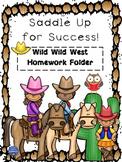 Western Homework Folder Cover