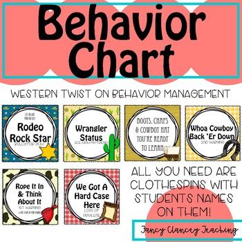 Western Inspired Behavior Chart