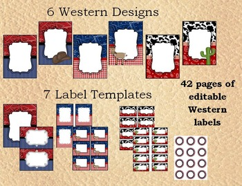 Western Label Bundle - Editable