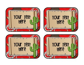 *EDITABLE* Western Labeling Cards