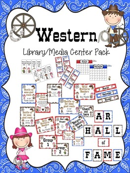 Western Library/Media Center Pack {with EDITABLE passes and signs}
