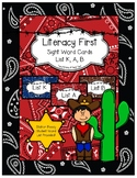 Western Literacy First Sight Word Lists K, A & B