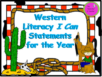 Western Literacy I Can Statements for the Year