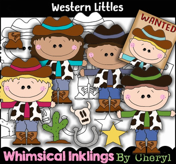 Western Littles~Cowboy~Cowgirl Clipart