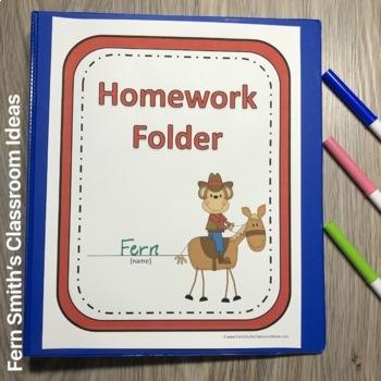 Student Binder Covers - Western Monkeys Student Work Folder Cover