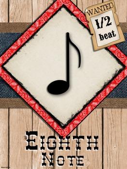 Western Music Decor - Anchor Charts