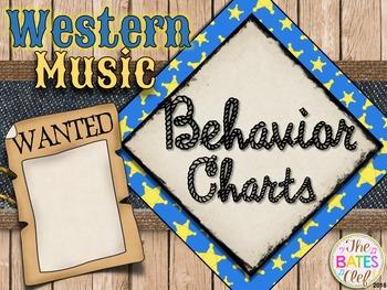 Western Music Decor - Behavior Charts