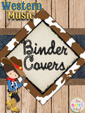 Western Music Decor - Binder Covers