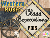 Western Music Decor - Classroom Expectations (PBIS)