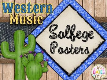 Western Music Decor - Curwen Solfege Posters