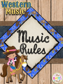 Western Music Decor - Music Rules