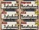 Western Music Decor - Orff Instrument Labels