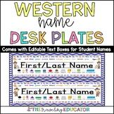 Cowboy Name Plates