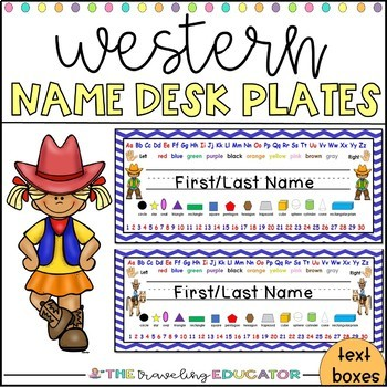 Cowboy and Cowgirl Name Plates