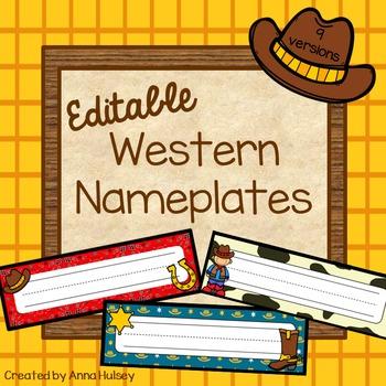 Western Nameplates (Editable)