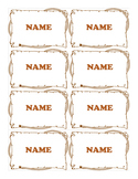 Western Name tags- Rope Border