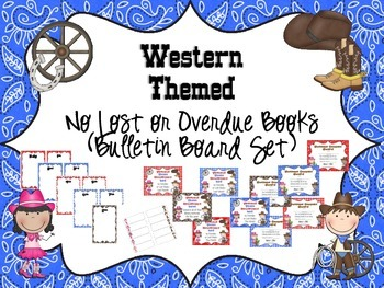 Western Themed Book Return Reward Bulletin Board Set