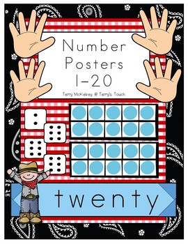 Western Number Posters