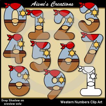 Western (Cowboy) Numbers Clip Art