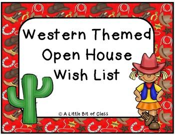 Western Open House Wish List