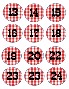 Western Picnic Class Numbers