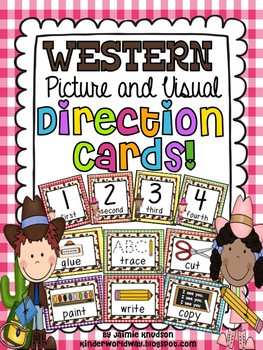 Western Picture and Visual Direction Cards!
