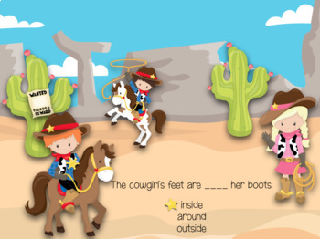 Western Prepositions (Great for Google Classroom!)