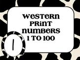 Western Print Numbers 1 to 100
