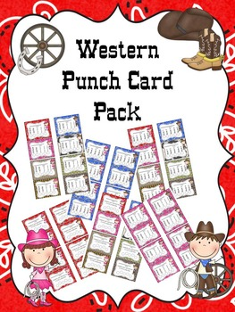 Western Punch Card Pack