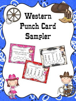Western Punch Card Sampler
