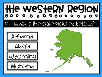Western Region - States and Capitals Review