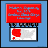 Western Region of the United States: Cloze Context Clues Passage