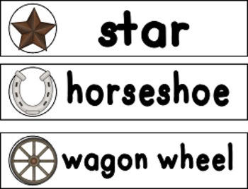 Western Sight Words Wall Strips