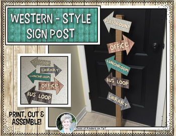 Western Sign Post {Classroom Decor} Perfect for Cowboys an
