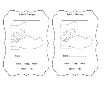 Western Speech Therapy Time Reminders