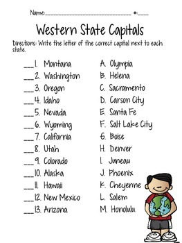image about State and Capital Quiz Printable identified as Nation Cash Quiz Worksheets Instruction Products TpT