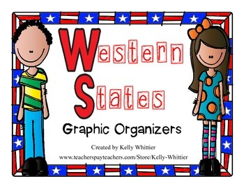 Western States Graphic Organizers (Perfect for KWL charts and geography!)