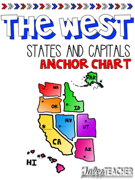 Western States and Capitals Anchor Chart