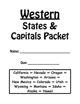 Western States and Capitals Review Packet