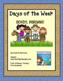 Western  Rodeo Style Days of the Week for Calendar Board