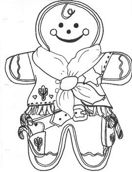 Western Style Gingerbread Men Coloring Sheet