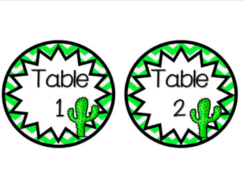 Western Table Number Labels