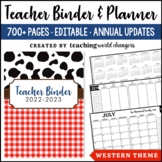 Western Teacher Binder