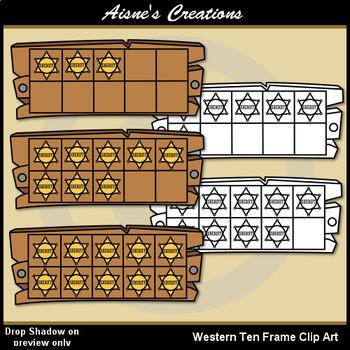 Western (Cowboy) Ten Frame by Aisne\'s Creations   TpT