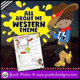 All About Me Western Theme