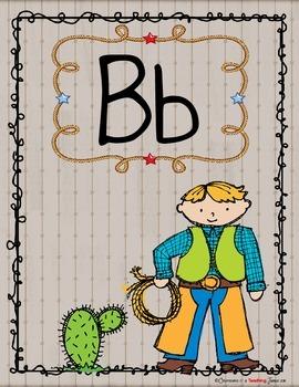 Western Theme Alphabet Poster Set – Contemporary Print Version