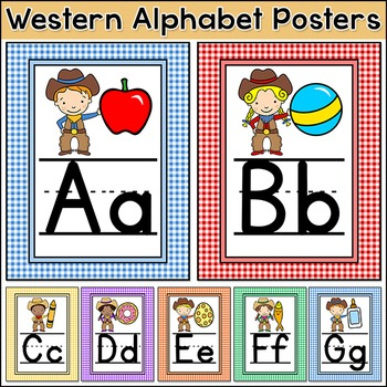 Western Theme Alphabet Posters